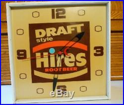 60s Vintage Hires Root Beer Sign Lighted Clock Advrtisement Pam Gas Station