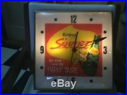 60s vintage and original SQUIRT with the Happy Taste Pam advertising clock