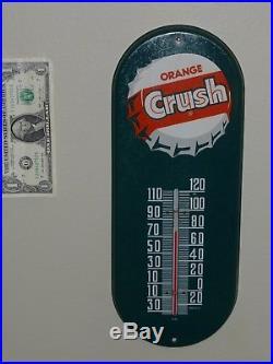 Antqe/Vtg Thermometer Sign, ORANGE CRUSH Soda Pop, N101, Rare, USA, 1930s, Green, Org