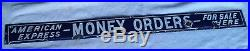 Awesome Vintage American Express Porcelain Sign Money Orders For Sale Here Rare