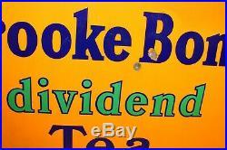 Brooke Bond tea enamel sign advertising mancave garage metal vintage retro kitch