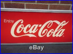 Coca-cola Coke Hanging Light-up Electric Neon Shop Advertising Sign 31 Vtg