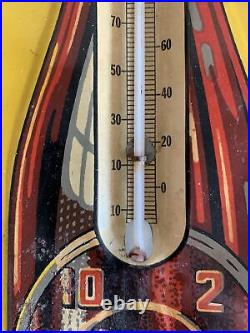 Dr. Pepper Original Vintage Circa 1930's Thermometer 10-2-4 Sign 17