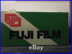 Fuji Film Lighted Sign Double Sided Rare Fuji Analog Film Sign Vintage Film Sign
