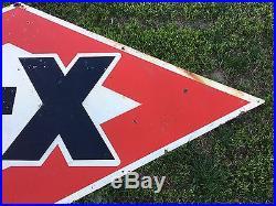 HUGE 10 FOOT VinTaGE D-X DX PORCELAIN Gas Oil Station Pump Pole sign