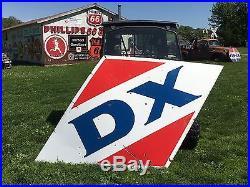 HUGE 10 FOOT VinTaGE D-X DX PORCELAIN Gas Oil Station Pump