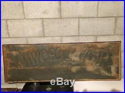 LARGE VINTAGE ORIGINAL 1951 ROYAL CROWN RC COLA SODA SIGN 54 x 18 NR MINT NEHI