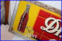 Large Vintage 1947 Dr Pepper Good For Life Soda Pop 54 Embossed Metal Sign