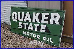 Large Vintage 1950 S Quaker State Motor Oil Gas Station 70