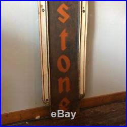 Large Vintage Firestone Tires Gas Station Oil Metal Sign, 6ft FREE SHIPPING