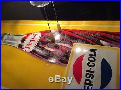 MINTY 1969 Vintage Antique Pepsi Soda Cola Bottle Tin Non Porcelain Sign CLEAN