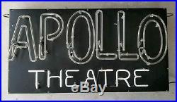 NEON SIGN Antique 1940's APOLLO THEATRE Original Vintage New York Harlem Theater