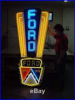 OLD Original Vintage 1953 Ford Jubilee porcelain neon sign EXCELLENT condition