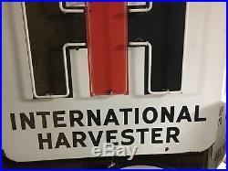 ORIGINAL NEON VintaGe INTERNATIONAL HARVESTER IH PORCELAIN SIGN Tractor Farm AG
