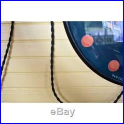 ORIGINAL VINTAGE 1950's LIGHTED ORANGE CRUSH PAM BUBBLE GLASS CLOCK SIGN