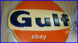 ORIGINAL Vintage Lighted GULF Station Sign 36