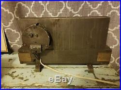 Old Overholt Rye Whiskey Bourbon Advertising Antique Clock -Vintage Glass Light