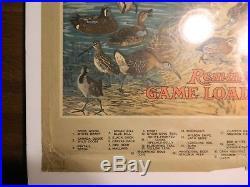 Original 1923 Remington Game Load Hunting Ammo Poster Gun Decoy