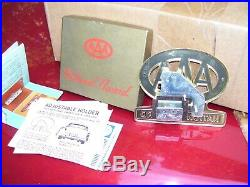 Original 1950s nos Accessory vintage License plate topper scta GM Ford Chevy