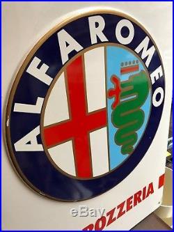 Original ALFA ROMEO Sign 1980s Vintage Service Dealership garage RARE genuine