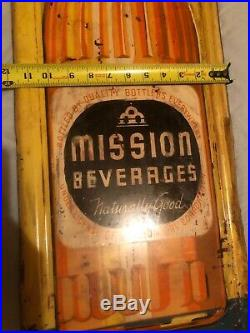 Original Advertising Soda Sign Mission Orange Vintage Cola