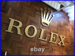 Original ROLEX Dealership Sign Vintage 1980s XXL Daytona Submariner GMT RARE BIG