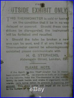 Original Vintage Antique Stephen's Inks Enamel Thermometer Sign Advertising