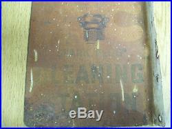 Original Vintage Double Sided Flange AC Spark Plug Metal Sign DATED 1934