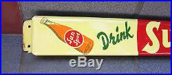 Original Vintage Sun Spot Soda Advertising Door Push Handle Sign