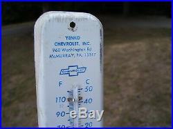 Original vintage GM Yenko Chevrolet dealer promo thermometer Camaro Corvair nova