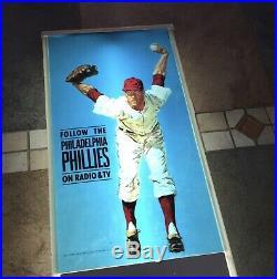 Phillies BALLANTINE BEER 1950s LIGHTED BAR SIGN Vintage Baseball Rare Display