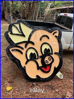 Piggly Wiggly original vintage sign rare grocery gas oil collectible