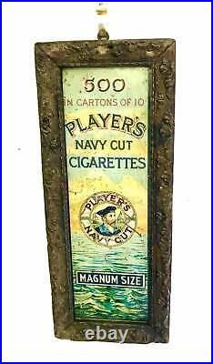 Players Navy cut tin sign advertising garage enamel mancave vintage retro indust
