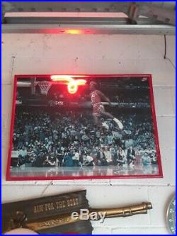 RARE 1980's Nike Michael Air Jordan Shoes Vintage Store Display Neon Sign Dunk