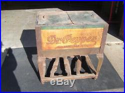 RARE Vintage Dr. Pepper ice chest or cooler VERY EARLY rarely seen! Machine