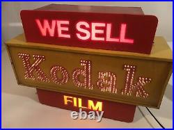 RARE Vintage Lighted Kodak Camera Film Store Display Sign 16 Fiber Optic Effect