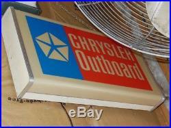 Rare Chrysler Outboard motor lighted sign 1960s 70s VTG advertising Great shape