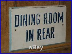 Rare Old Paint Original'dining Room' Restaurant Wood Sign Vintage Antique Blue
