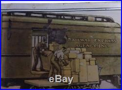 Rare Vintage 1920's Railway Express Agency Railroad Sign real deal