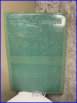 Rare Vintage 1950s Kist Soda Pop Metal Sign Advertising