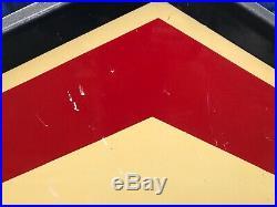 Rare Vintage Original 8ft Double Sided Porcelain D-X Gas Station Oil Sign
