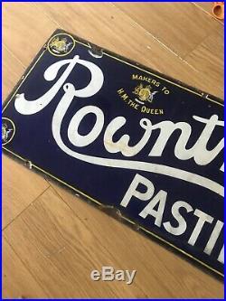 Rowntrees Pastilles Vintage Original Enamel Sign
