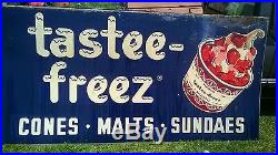 Sign, Advertising, Business, Old Vintage, Metal, Tastee Freez