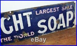 Sunlight Soap enamel sign advertising mancave garage metal vintage retro kitchen