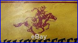 Very Rare Vtg Winchester Authorized Dealer Porcelain Sign Neat Cowboy Graphic