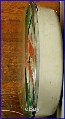 VINTAGE 1950's ORANGE CRUSH PAM BUBBLE GLASS CLOCK ORIGINAL LIGHTED SIGN