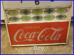 VINTAGE 1960`s DRINK COCA-COLA Lighted advertising clock Soda Sign