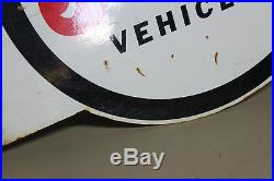 Vintage Jeep 4-wheel Dealership Flange 2-sided Metal Sign Soda Farm Barn Ih