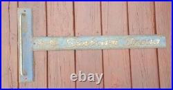 VINTAGE Original SUNBEAM BREAD DOOR PUSH SIGN PULL HANDLE PARTIAL