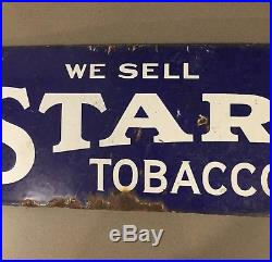 VINTAGE Original Star Tobacco Metal Advertising SIGN Antique double sided
